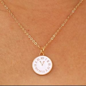 Jewelry - Gold Filled Clock Necklace